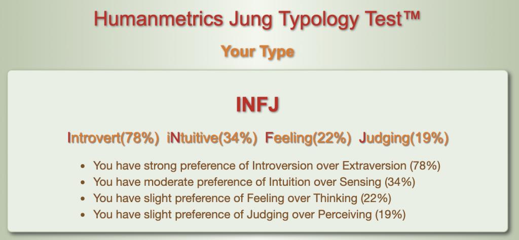 My INFJ result