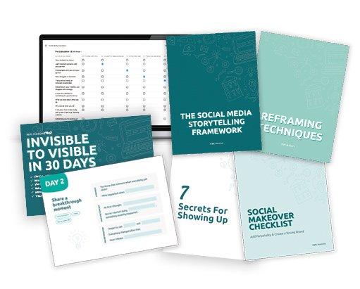 Invisible to Visible Social Media Bundle