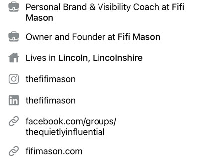 Optimise your Facebook personal profile links